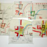 Voorbeelden van ruwe schets of vlekkenplan.